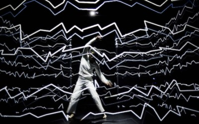 Interactive projection-mapped performance