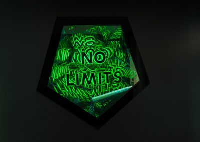Neon -like art piece by Ben Rousseau at Acrylicize