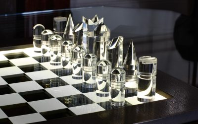 Bronze Illuminated Chess Set