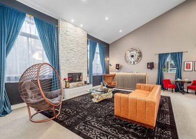 living room designed by Ben Rousseau