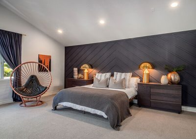 Rousseau bubble chair featured in bedroom