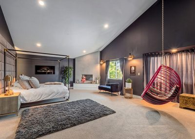Bedroom by with Rousseau Hanging Bubble Chair