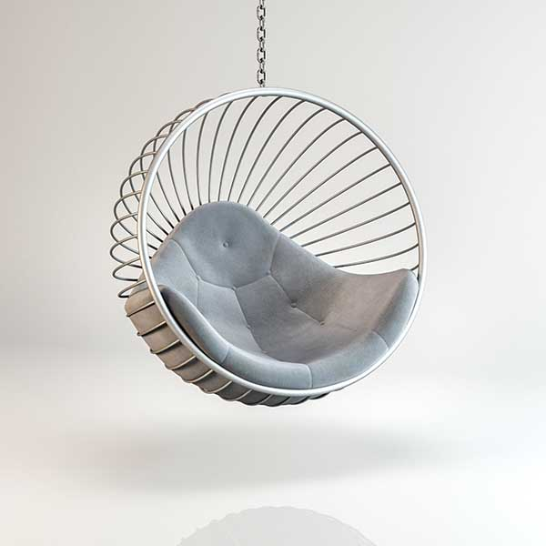 Hanging Bubble Chair With Whispering, Bubble Hanging Chair