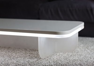 lighted coffee table, Ben Rousseau Design