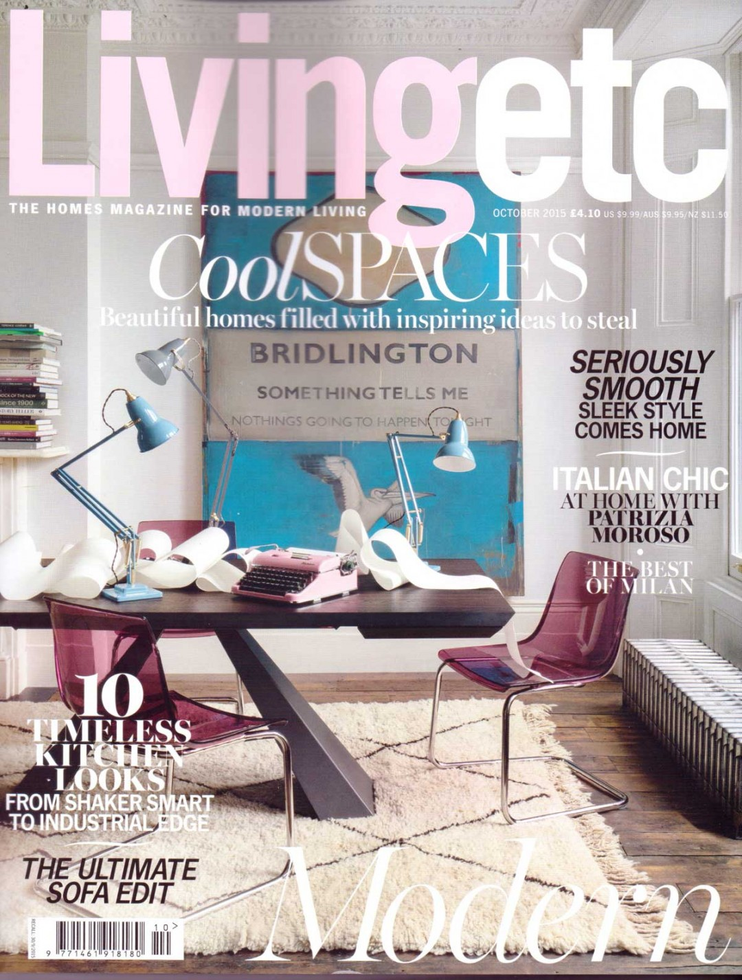 Ben Rousseau Bubble Chair featured in Living ETC Oct 2015