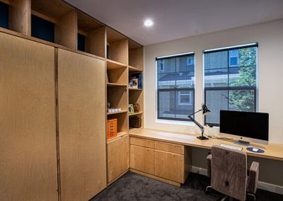 workspace with murphy bed at Japantown project - Ben Rousseau Designs