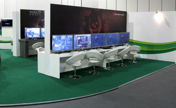 Expo Exhibition Stands Xbox : Gamesfest xbox exhibition stand design rousseau