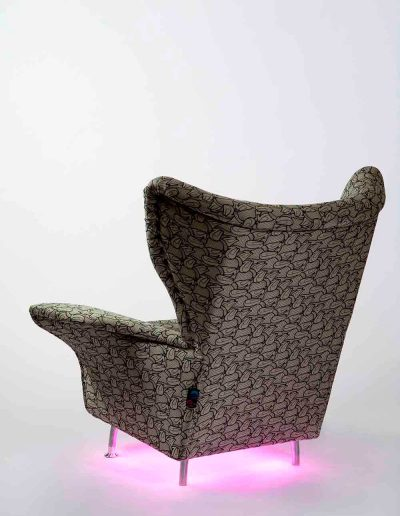 chair with under lights