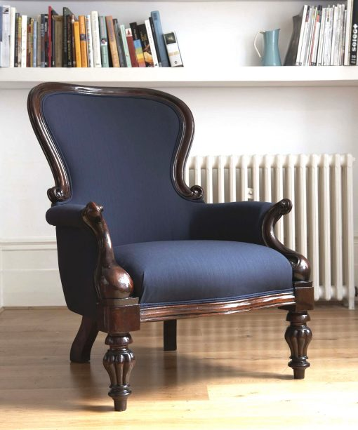 Pierre Seville Chair - Blue with Pink Pin Stripe