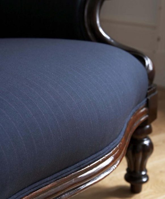 Pin Striped French Chair