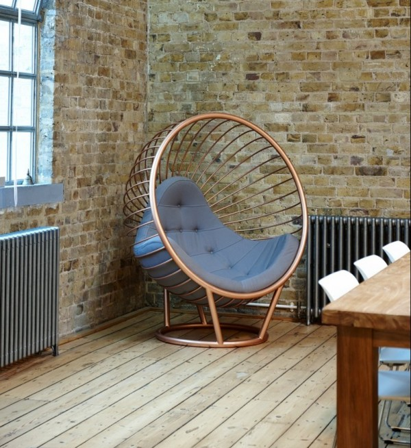 Rose Gold Wire Bubble Chair
