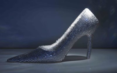 "Swarovski Encrusted ""Sinderella"" High Heel Ornament"