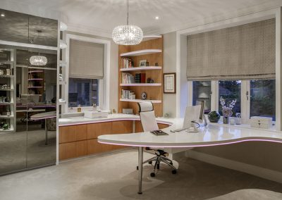 office in Surrey residence designed by Ben Rousseau
