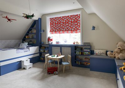 child's bedroom in Surrey residence designed by Ben Rousseau