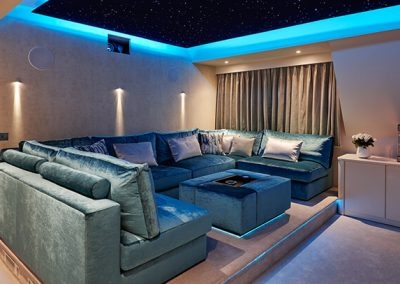 media room Surrey residence designed by Ben Rousseau