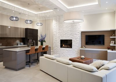 open concept in Surrey residence designed by Ben Rousseau