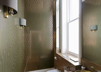 powder room in Surrey residence designed by Ben Rousseau