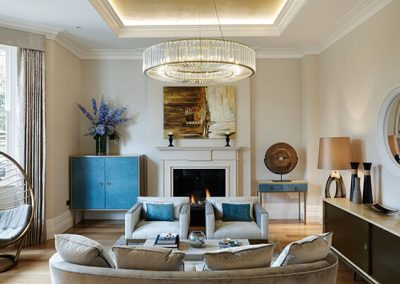sitting area in Surrey residence designed by Ben Rousseau