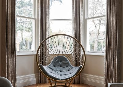 Rousseau bubble chair in Surrey Residence