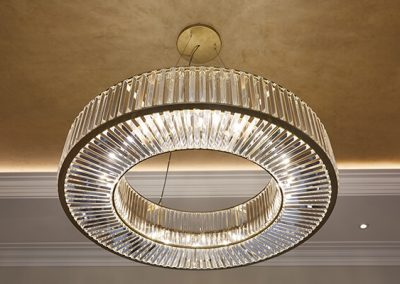 Chandelier at Surrey Residence