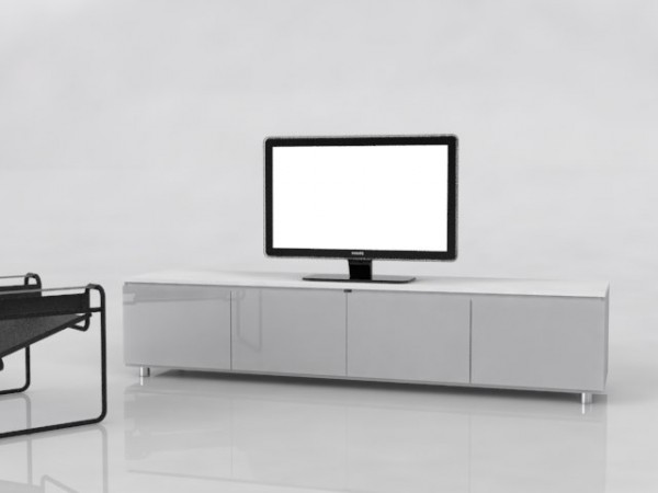 Gloss White Tv Cabinet Render