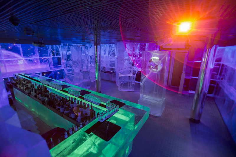 """Galactic Frontiers"" Ice Bar, London"