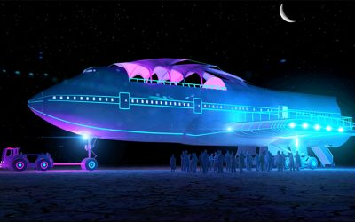 Converted Boeing 747 at Burning Man