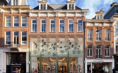 Glass brick facade for Chanel store by MVRDV