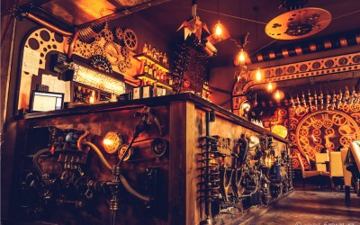 Enigma: a Steampunk-Themed Cafe in Romania
