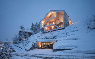 Modern interpretation of a Swiss Ski Chalet